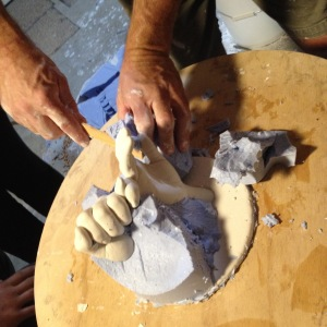 Removing the alginate